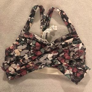 Lululemon athletica floral wrap sports bar size 4